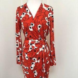 Diane von Furstenberg DVF Wrap Dress in Poppy Prin